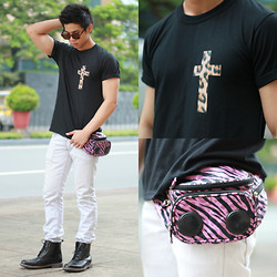 Nick Ronquillo - The Ranz Project Printed Tee, Dickies Tykes Jeans, Forever 21 Sunnies - Animal Print