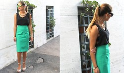 Cátia Sousa - Zara Pencil Skirt, Zerouv Sunglasses - ITALIANcolors