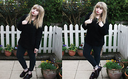 Sarah Worcester - Primark Fluffy Jumper, Primark Jeans, Asos Shoes, Thrifted Necklace - Fluffy Jumpers are cool