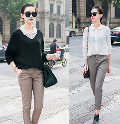 Ladykelly Wang - Mixmoss Sweater, Mixmoss Shirt, Mixmoss Pants - Simple match