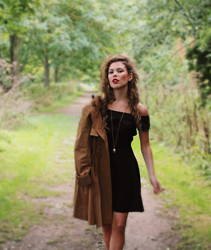 Georgina Walker - Love Dress, Burberry Trench, Vintage Locket - Little black dress