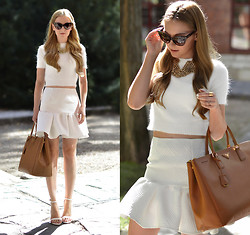 Henar Vicente - Asos Top, Zara Shoes - ALL WHITE EVERYTHING