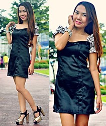 Julie Lozada - Dress, Julie Ann Collection Shoes - Sparkly Black and Gold