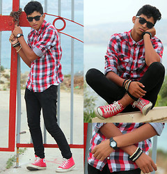 Wassim El Bouanani - H&M, Converse All Star, Hi Street Hi Street Fashion Wear, Quartz, H&M - Windy day in Tanger City :)