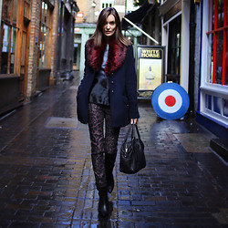 Anouska Proetta Brandon - Supertrash Coat, Moka London Leather Top, Supertrash Jeans - Off Carnaby.
