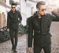Mike Quyen - Zara Jacket, Prada Sunglasses - All black