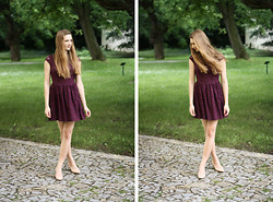 Kristina H. - H&M Dress - Red Wine