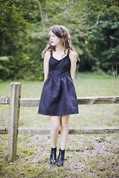 Ashlyn K - Dahlia Uk Little Black Dress, Spiked Headband, Tba Chelsea Boots - Chasing a Ghost