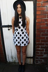 Stacey Joanne Marie Ford - New Look Hat, Boohoo Playsuit, Boohoo Boots - Flower Girl