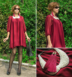 "Galina ""Mossska"" Pokhyla - Select Dress, New Look Heels - Royal burgundy for a Lady"