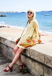 Olivia Taylor - Prada Shoes, Anthropologie Dress - Bonjour De Cannes