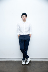 Nic Liu - Hat From Harajuku 390 Yen Shop, H&M White Shirt, Gu Pants, Dr. Martens Boots - The Winter boys are coming.... pt 2