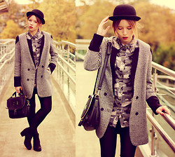 Wioletta Mary Kate - Choies Coat, Choies Shirt, Romwe Bag, Choies Hat - Inspired by Freja Beha.