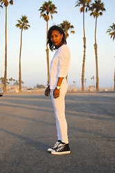 Nicole G - Converse High Tops - WHITEXWHITE