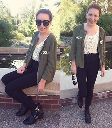 Meg Davis - H&M Jacket, Bdg High Waisted Jeans, Lulu's Booties, Forever 21 Sunnies - Just a feeling