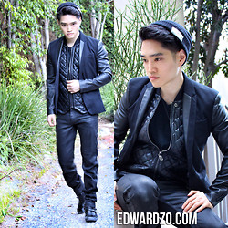 Edward Z. - 7 Diamonds Version Here: Jacket W/ Leather Sleeves, Burberry Quilted Vest, Dolce & Gabbana Waxed Denim - CONVERGENCE