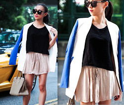 Monica W - Karen Walker, Bella Luxx Shorts, Zara, Hermës Birkin - I Don't Rest.