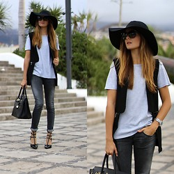 Marianela Yanes - H&M Hat, Sheinside Vest, Choies Heels - Playing with grey