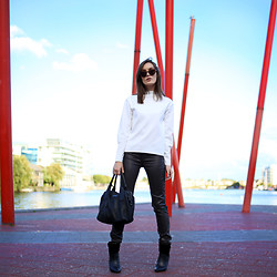 Anouska Proetta Brandon - Zara Top, Supertrash Pants, Supertrash Boots - Energy Theatre.