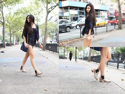 Amy Marietta - Johnny Was Top, Club Monaco Shorts, Hudson Shoes - On Sundays, We Brunch