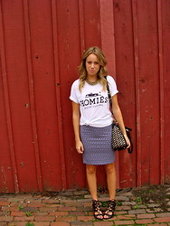 Anna Schowe - Brian Lichtenberg Homies Tee, H&M Skirt, Juicy Couture Purse - Homies, South Central