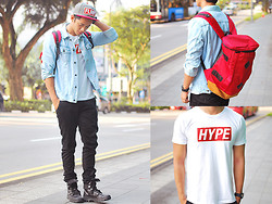 David Guison - Flesh Imp Bagpack, Flesh Imp Shirt, Flesh Imp Cap - Believe The Hype