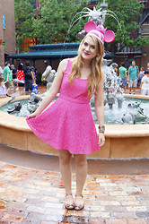 Marie McGrath - Aéropostale Pink Lace Dress, Mel By Melissa Beige Mary Jane Shoes - Cheshire Cat!