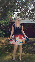 Melissa . - Alice In Wonderland Skirt, T Strap Flats - Alice in Wonderland!