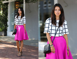 Annabelle Fleur - Finders Keepers The Label Top, Cameo The Label Skirt, Coach Heels - Full On Fuchsia