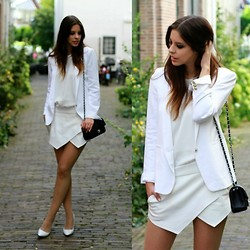 Mary G. - The Kooples Blazer, Zara Skort, Chanel Bag - A New Era