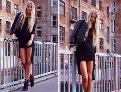 Katze . - Dress, H&M Leather Jacket, Zara Boots - HIGH AND LOW.