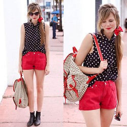 Steffy Degreff - Forever 21 Blouse, Tea And Tulips Vintage - Dots on dots!