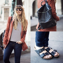 Lisa Dengler - Asos Pebble Backpack, Birks - BIRKS
