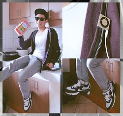 Renz C - Topman Hoodie, Walker Tank Top, Penshoppe Grey Jeans, Nike Air Max - The Morning After