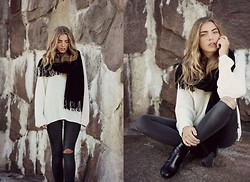 Isabella Loof - Rut&Circle Scarf, Whyred Knit, Levi's® Jeans, Tiger Of Sweden Shoes - Embrace/Hayden James