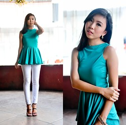 Gillian Uang - Love Peplum Dress Turned Top - Double Mint
