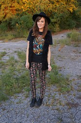 Niki Adams - H&M Hat, Vintage Shirt, Forever 21 Vest, Forever 21 Pants, Thrifted Shoes - Fall.