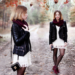Wioletta Mary Kate - Stradivarius Boots, Chic Wish Jacket, Lookbookstore Dress - Autumn Vibes #5