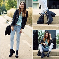 Agata P - Boots, Jacket, New Look Jeans, Primark Top - One Part Angel , One Part Danger