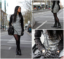 Teresa Vu - Jolie & Deen Dress, Alexander Wang Rocco, Coussinet Gloves - Melbourne Chic