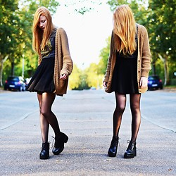 Elly W. - H&M Skirt, Vagabond Shoes, H&M Cardigan - Do you want it all?