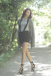 Julia Monson - Remix Clothing Ghillie Lace Up Heel, Flaunt Have Some Fun Dungaree Shorts - Stillness is the Move