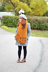 Riikka P - Monki Wool Scarf, Monki Jacket - Autumn is here