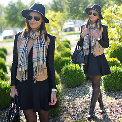Renata M.. - Zara Hat, Sheinside Jacket, Diy Dress, Supertrash Rain Boots, Bag - Hello autumn!