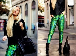 Fanny Staaf - Armani Exchange Knitted, Asos Pants, Choies Bag - WETLOOK
