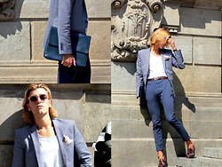 Alexandre Martinez - H&M Blazer, Topman Belt, Zara Shoes, Zara Portfolio - Classic and casual on thefashiondiesyoung.com