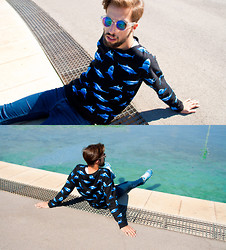 Bor Padín - Forever 21 Sweatshirt, Topman Jeans, New Balance Sneakers, H&M Sunnies - JAWS