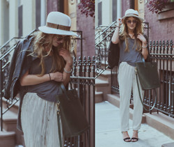 Laura Ellner - Gigi Burris Hat, Yigal Azrouel Leather Jacket, Lost Property Bag, Zara Shoes - Metallica