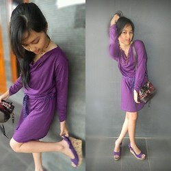 Shella Marselina - Sophie Paris Purple Dress - Purple day