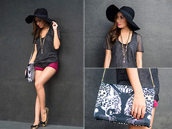 Laureen Uy - H&M Hat, Sm Accessories Necklace, H&M Shorts, Roberto Cavalli Bag, Soleful Manila Flats - Basic (BMS)